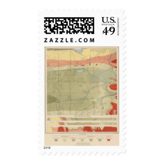 Detailed Geology Sheet XXV Postage Stamps