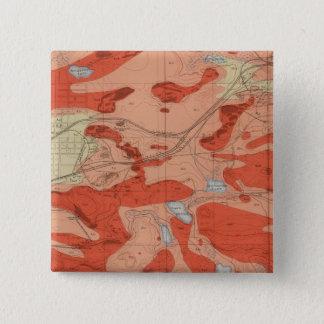 Detailed Geology Sheet XXVIII Pinback Button