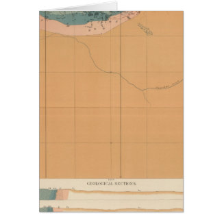 Detailed Geology Sheet XXXIX Greeting Cards
