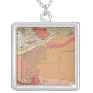 Detailed Geology Sheet XXXV Silver Plated Necklace