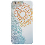 Detailed henna abstract sunrise barely there iPhone 6 plus case
