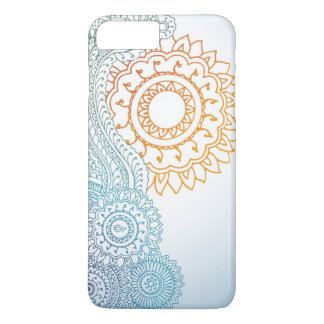 Detailed henna abstract sunrise iPhone 7 plus case