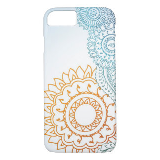 Detailed henna abstract sunrise iPhone 8/7 case
