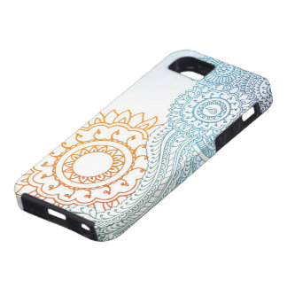 Detailed henna abstract sunrise iPhone SE/5/5s case