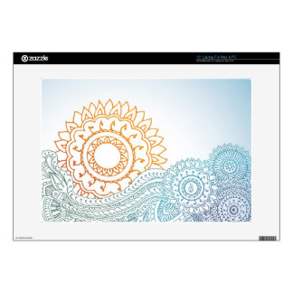 Detailed henna abstract sunrise skin for laptop