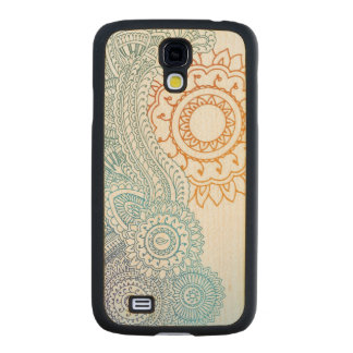 Detailed henna abstract sunrise carved® maple galaxy s4 slim case