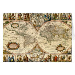 Detailed Historic Map Greeting Cards