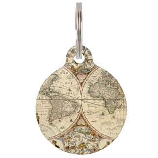 Detailed Historic Map Pet Tag