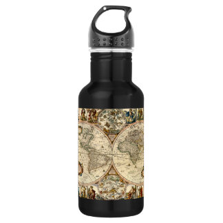 Detailed Historic Map Water Bottle
