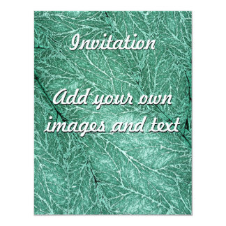 Detailed Leaf Texture Emerald Green Card