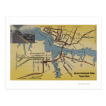 Detailed Map of Norfolk-Portsmouth Bridge Tunnel Post Cards