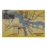 Detailed Map of Norfolk-Portsmouth Bridge Tunnel Poster