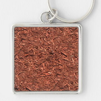 detailed mulch of red cedar for landscaper keychain