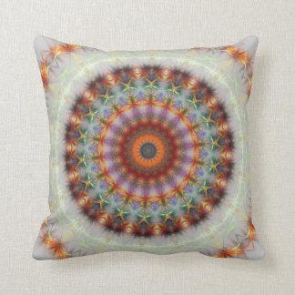 Detailed Natural Earth Mandala pillow cushion