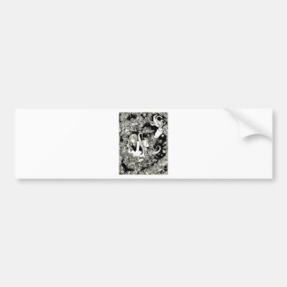 Detailed Pen and Ink Ocean Scene Bumper Sticker