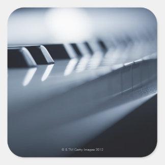 Detailed Piano Keys 2 Square Sticker