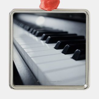 Detailed Piano Keys Metal Ornament