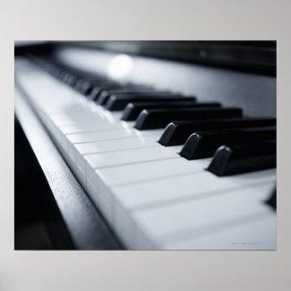 Detailed Piano Keys Poster