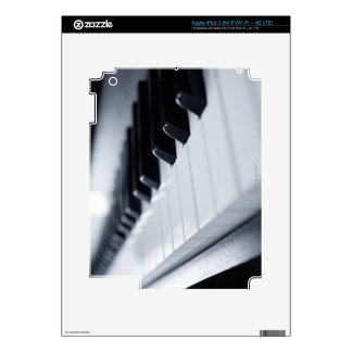 Detailed Piano Keys Decal For iPad 3