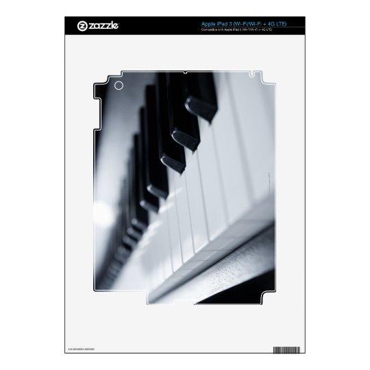 Detailed Piano Keys Skin For iPad 3