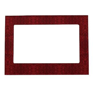 Detailed Red Floral Wallpaper Magnetic Frame
