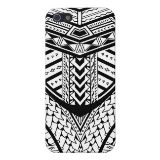 Detailed Samoan tribal tattoo pattern Cover For iPhone 5/5S