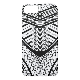 Detailed Samoan tribal tattoo pattern iPhone 7 Case