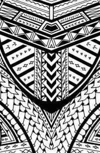Detailed Samoan Tribal Tattoo Pattern Gifts On Zazzle