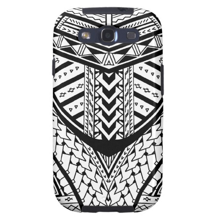 Detailed Samoan tribal tattoo pattern Samsung Galaxy SIII Case