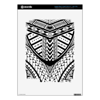 Detailed Samoan tribal tattoo pattern Skins For iPad 3