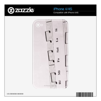 Detailed Sheet Music 2 Decal For iPhone 4