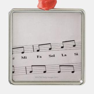 Detailed Sheet Music 2 Metal Ornament