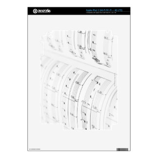 Detailed Sheet Music 3 Decals For iPad 3