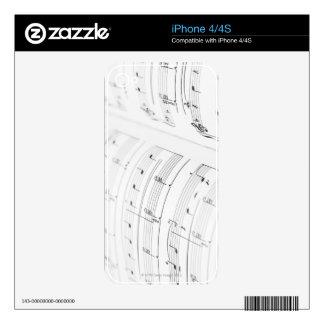 Detailed Sheet Music 3 iPhone 4 Skins