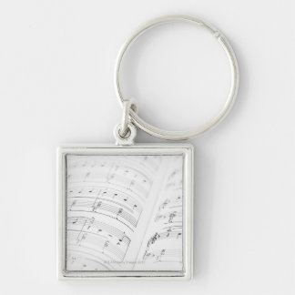 Detailed Sheet Music 3 Keychain