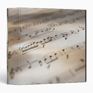 Detailed Sheet Music 3 Ring Binder