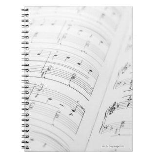 Detailed Sheet Music 3 Spiral Notebook