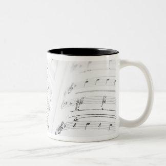 Detailed Sheet Music 3 Two-Tone Coffee Mug