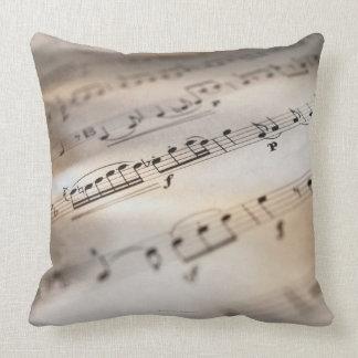 Detailed Sheet Music Throw Pillow
