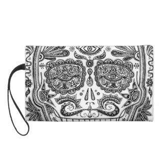 Detailed Skull Wristlet Clutches