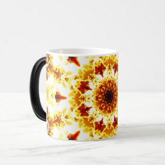 Detailed SunFlower Mandala Magic Mug
