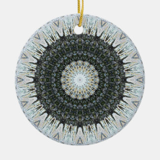 "Detailed ""Tinsel in a Tangle"" Christmas Mandala Ceramic Ornament"