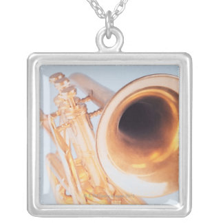Detailed Trumpet 2 Silver Plated Necklace