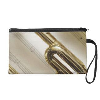 Detailed Trumpet Wristlet Purse