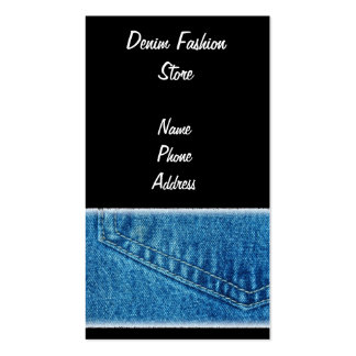 Detailed View of Jeans Pants Back Pocket Double-Sided Standard Business Cards (Pack Of 100)