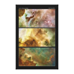 Detailed View of the Carina Nebula NGC 3372 Stretched Canvas Print