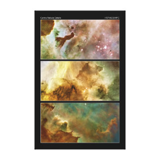 Detailed View of the Carina Nebula NGC 3372 Canvas Print