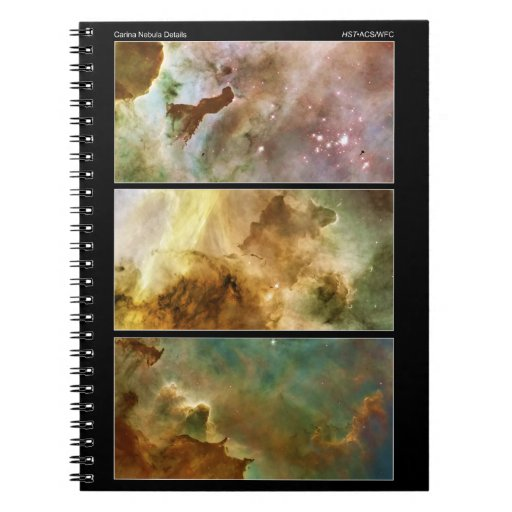 Detailed View of the Carina Nebula NGC 3372 Notebook