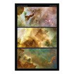 Detailed View of the Carina Nebula NGC 3372 Art Photo
