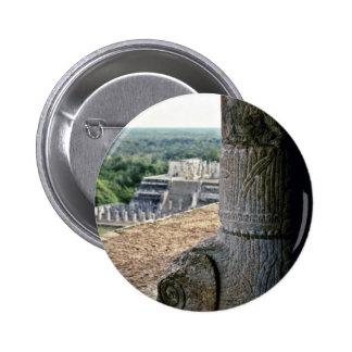 Detailed View Of Top Of El Castillo Button
